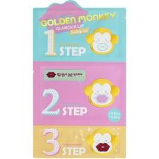 3-х ступенчатый набор средств для ухода за губами Golden Monkey Glamour Lip 3-Step Kit