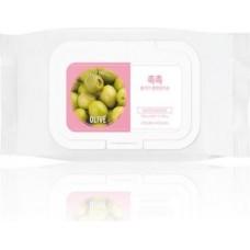 Cалфетки для удаления макияжа Daily Fresh Olive Cleansing Tissue (60 шт)