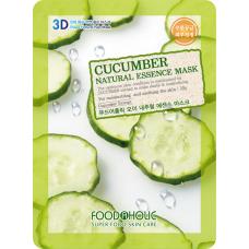Увлажняющая тканевая 3D маска с экстрактом огурца Cucumber Natural Essence Mask