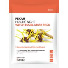 Восстанавливающая тканевая маска с экстрактом галактомисиса Healing Night Witch Hazel Mask Pack