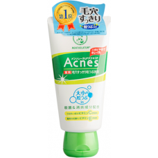 Очищающий крем-скраб для лица против акне Acnes Scrub in Face Wash
