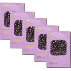 Pure Essence Mask Sheet Acai Berry набор из тканевых масок для лица, 20 мл*5 шт, Holika Holika