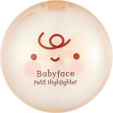 Сухой хайлайтер для стробинга, золотой сатин Babyface Petit Highlighter 02 Gold Satin