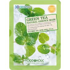 Успокаивающая тканевая 3D маска с экстрактом зеленого чая Green Tea Natural Essence Mask