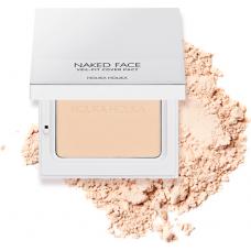 Компактная пудра для лица Naked Face Veil-Fit Cover Pact 01 Light Beige, тон 01, светло-бежевый