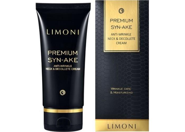 Антивозрастной крем для шеи и декольте со змеиным ядом Premium Syn-Ake Anti-Wrinkle Neck&Decollete Cream