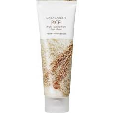 Очищающая пенка с рисом Daily Garden Rice Bright cleansing foam from Icheon