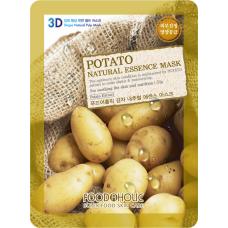 Тканевая 3D маска с экстрактом картофеля для устранения отеков кожи Potato Natural Essence Mask