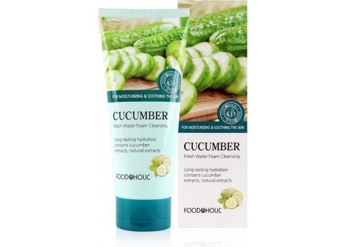 Очищающая пенка для умывания с экстрактом огурца Cucumber Fresh Water Foam Cleansing