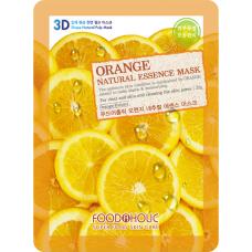Тканевая 3D маска с экстрактом апельсина для сужения пор FoodaHolic Orange Natural Essence Mask