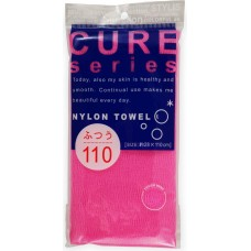 Мочалка для тела средней жесткости (розовая)