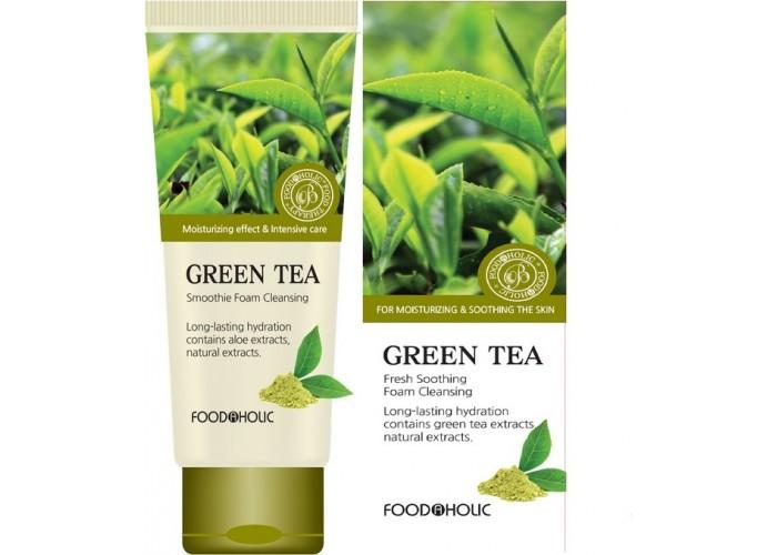 Очищающая пенка для умывания с экстрактом зеленого чая Green Tea Fresh Soothing Foam Cleansing