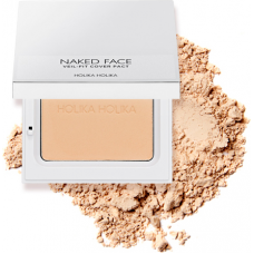 Компактная пудра для лица Naked Face Veil-Fit Cover Pact 02 Natural Beige, натурально-бежевый
