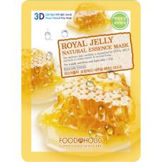 Тканевая 3D маска с экстрактом пчелиного маточного молочка Royal Jelly Natural Essence Mask